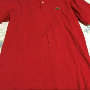 Men's Red Lacoste Polo Size Large Very Nice!!!